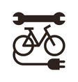 electric bike repair icon vector image vector image