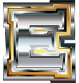 Fancy font Letter E vector image vector image