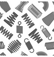 flexible spiral pattern metal elastic twisted and vector image vector image