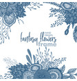 floral frame with bouquets hand drawn vector image vector image