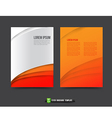 Flyer Brochure background templated 014 Orange and vector image vector image