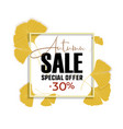 ginkgo biloba leaves sale banner yellow poster vector image vector image