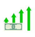 growth salary money vector image vector image
