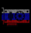 halftone russian video gpu card icon vector image vector image