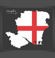 hampshire map england uk with english national vector image vector image