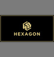 hb hexagon logo design inspiration vector image vector image