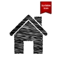Home icon Scribble icon for you design vector image