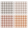 houndstooth seamless brown pattern set vector image vector image