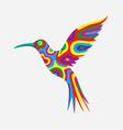 Humming bird colorfully vector image