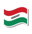 hungary patriotic flag isolated icon vector image