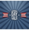 Independence Day Sale scratched Badge vector image vector image
