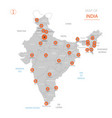 india map with administrative divisions vector image