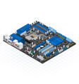 Isometric Motherboard vector image vector image