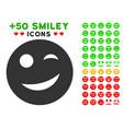 joy smiley icon with bonus facial set vector image