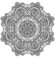 Lacy ornate black napkin vector image vector image
