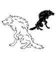 large wolf vector image vector image