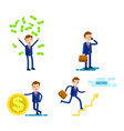 lifestyle of successful businessman flat design vector image vector image