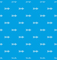 linear black arrow pattern seamless blue vector image