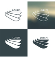 Logo wing set vector image