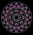 mandala dot painting design aboriginal vector image