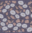 midnight garden seamless pattern with vector image vector image