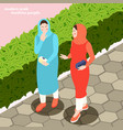 modern muslims women background vector image vector image