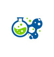 molecule science lab logo icon design vector image