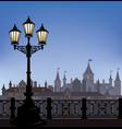 night cityscape street light street skyline vector image