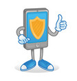 protect phone vector image vector image