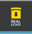 real estate logo sign castle tower which vector image vector image