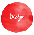red watercolor circle background vector image