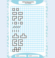 repeat pattern tracing lines activity special vector image