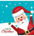 santa claus cheerful merry christmas vector image vector image