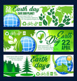 save planet banner for earth day celebration vector image vector image