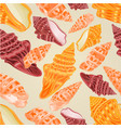 seamless texture three sea shells vector image