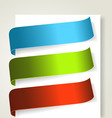 set of colorful textile labels vector image
