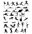 silhouettes sports vector image vector image