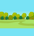 spring or summer green cartoon country landscape vector image vector image