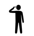 suicide headshot vector image vector image