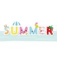 Summer cartoon decorative letters vector image