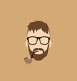 tobacco pipe hipster guy vector image vector image