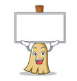 up board broom character cartoon style vector image vector image