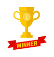 Winner champion icon in flat style vector image
