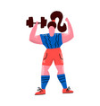 woman with dumbbell female athlete in sportswear vector image