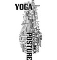 yoga posture text word cloud concept vector image vector image