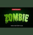 zombie text effect premium vector image vector image