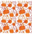 Seamless food pattern with pumpkins vector image