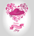 women day greeting cards icon vector image