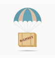 parachute box package vector image
