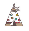 traditional indian lodge vector image
